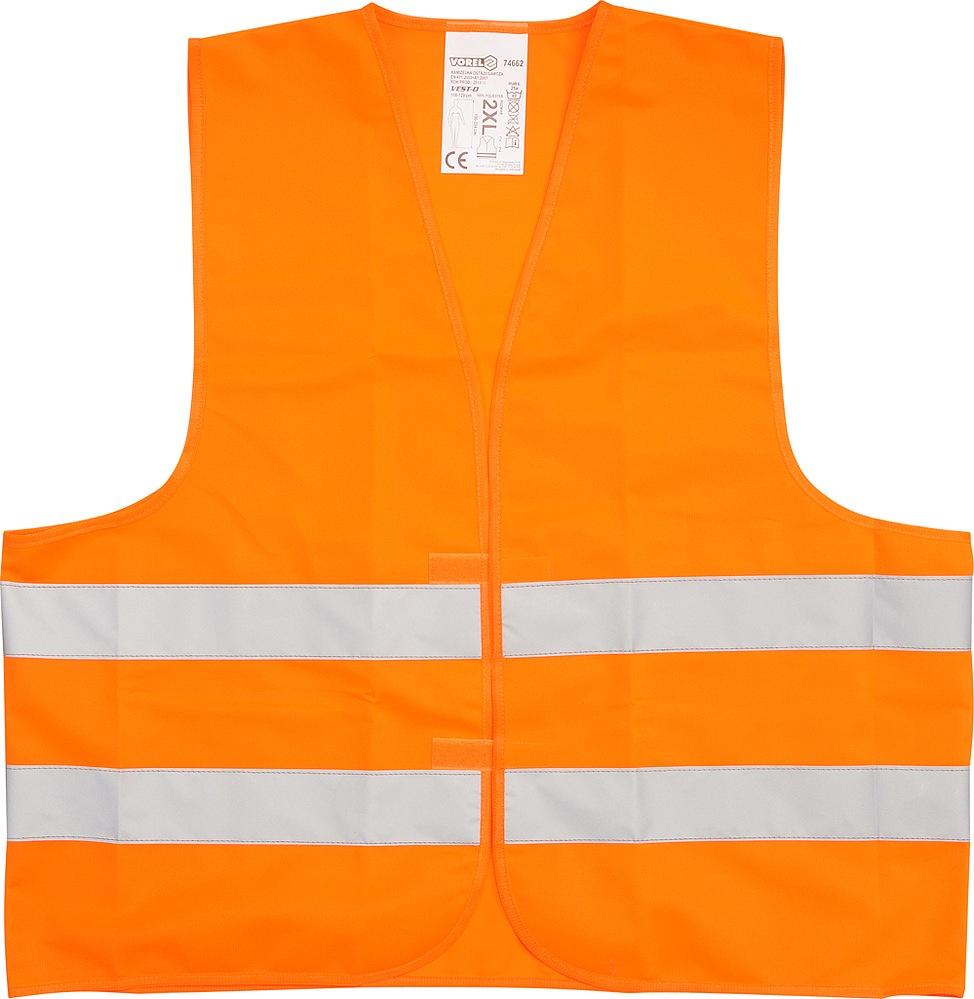 Vesta výstražná oranžová EN471, CE - XXXL