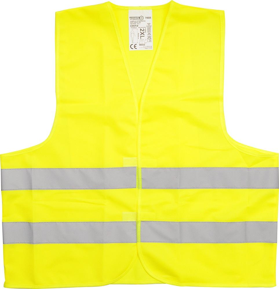 Vesta výstražná žlutá EN471, CE - XXXL
