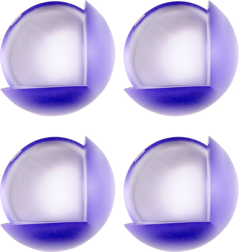 Chráníč na rohy nábytku, samolepící, modrý průsvit, 4ks