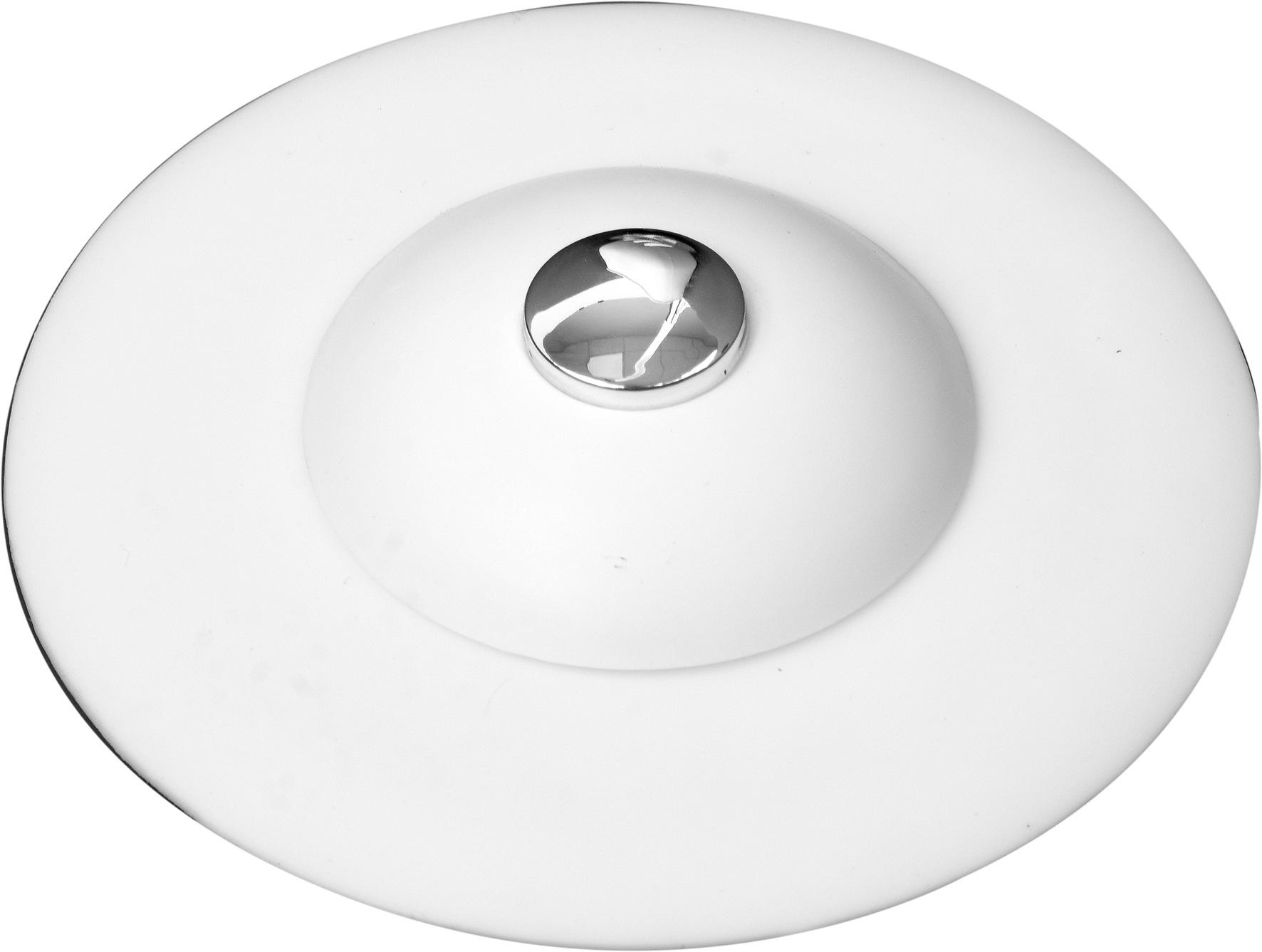 Výpusť umyvadlová silikonová s filtrem bílá