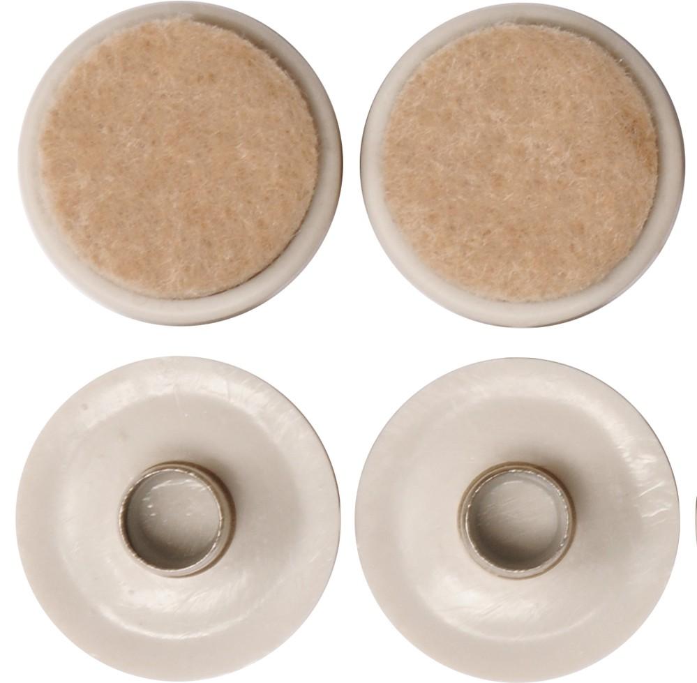 Podložka plastová s plstí na kolík 37mm,4ks