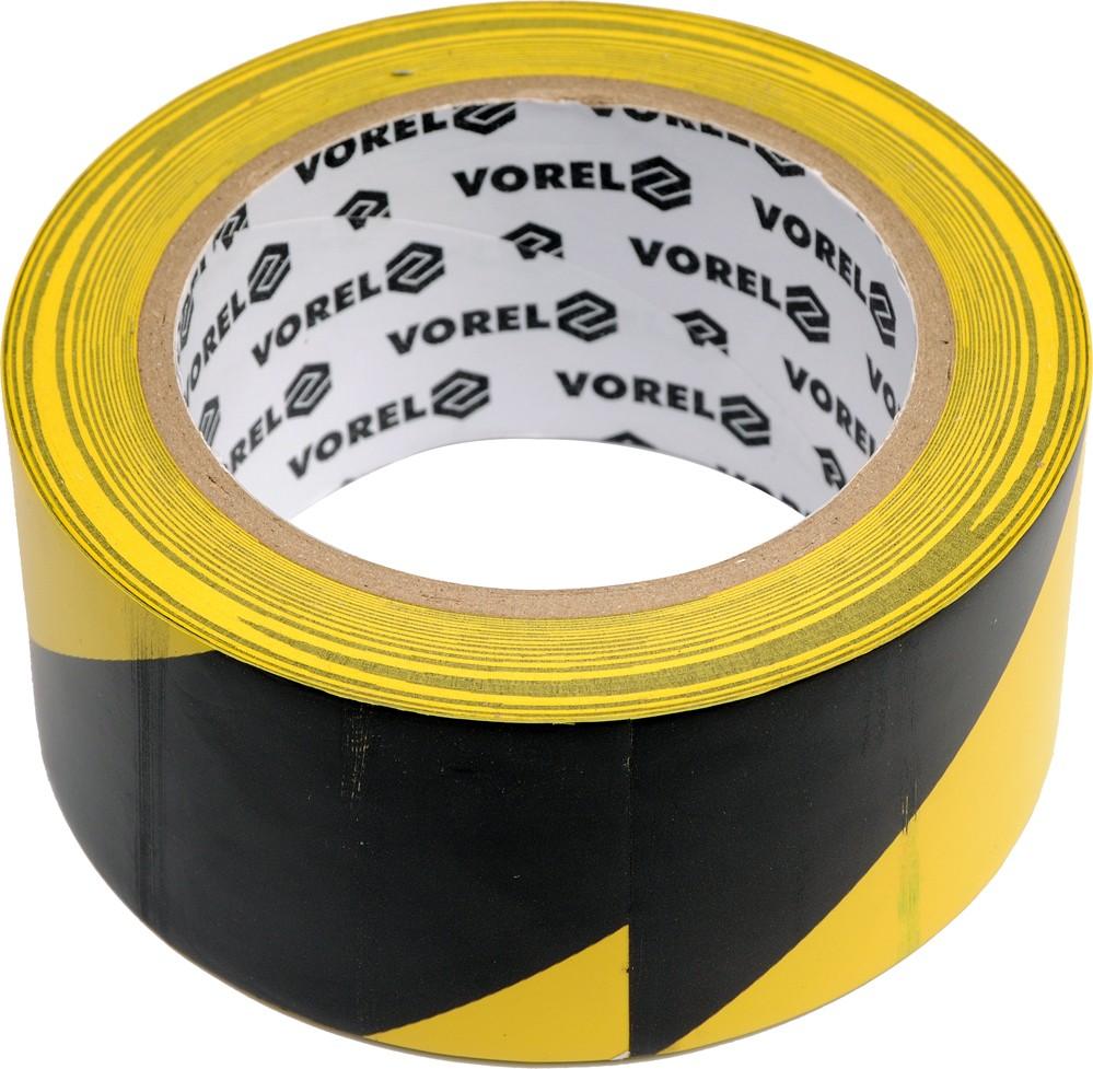 Páska výstražná černožlutá 48 mm x 33 m