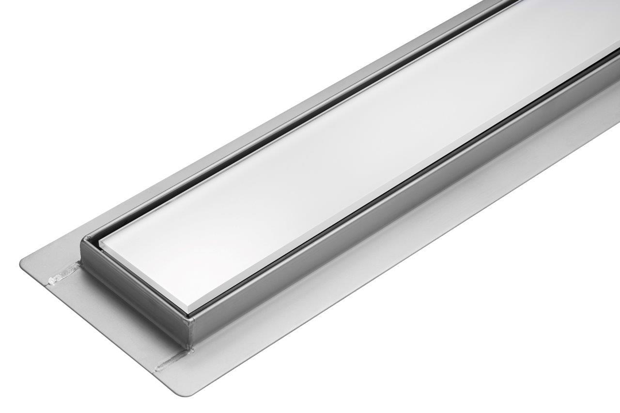 Lineární koupelnový žlab Bílé Sklo 80 cm WET&DRY