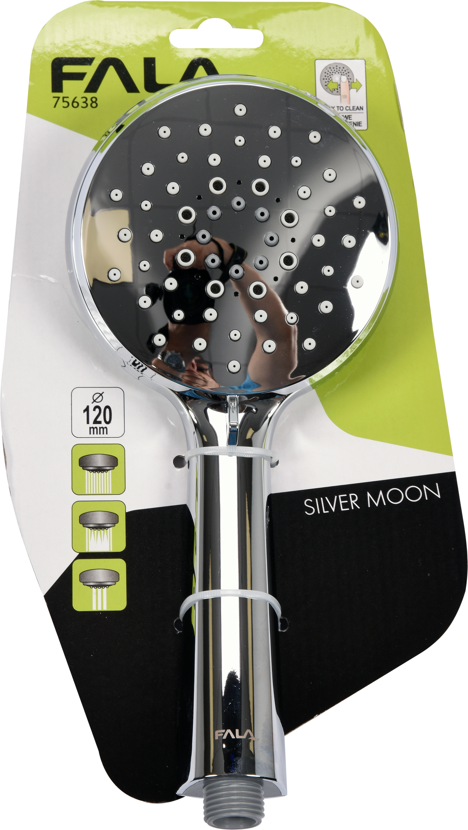 Sprchová hlavice SILVER MOON 120mm 3 funkce