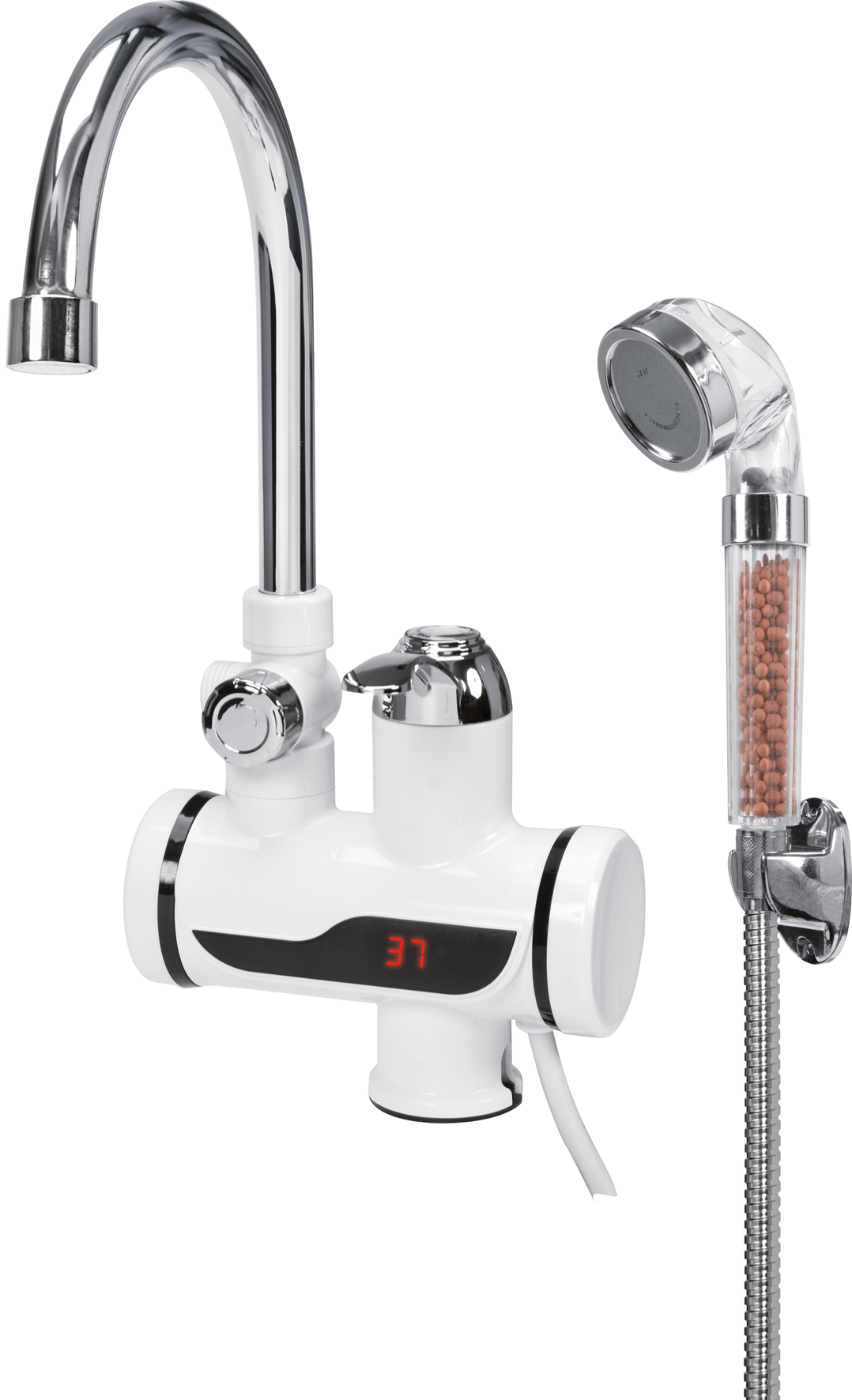 Baterie stojací s ohřevem vody a sprchou KATLA-3 3kW