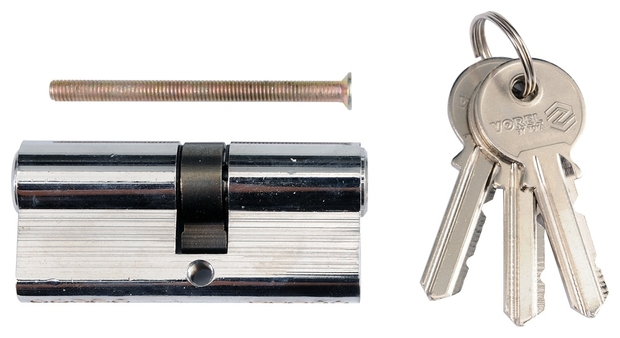 Vložka zámku 62 x 31 x 31 mm mosaz 3 klíče chrom