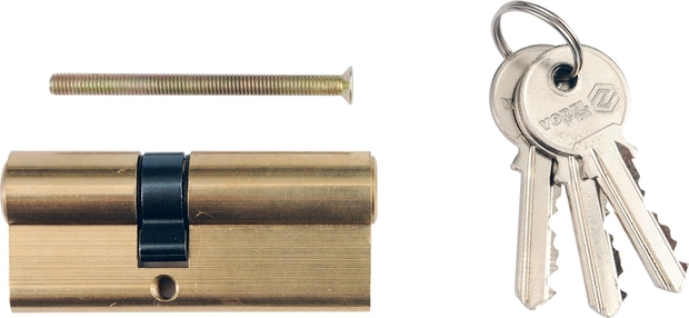 Vložka zámku 62 x 31 x 31 mm mosaz 3 klíče