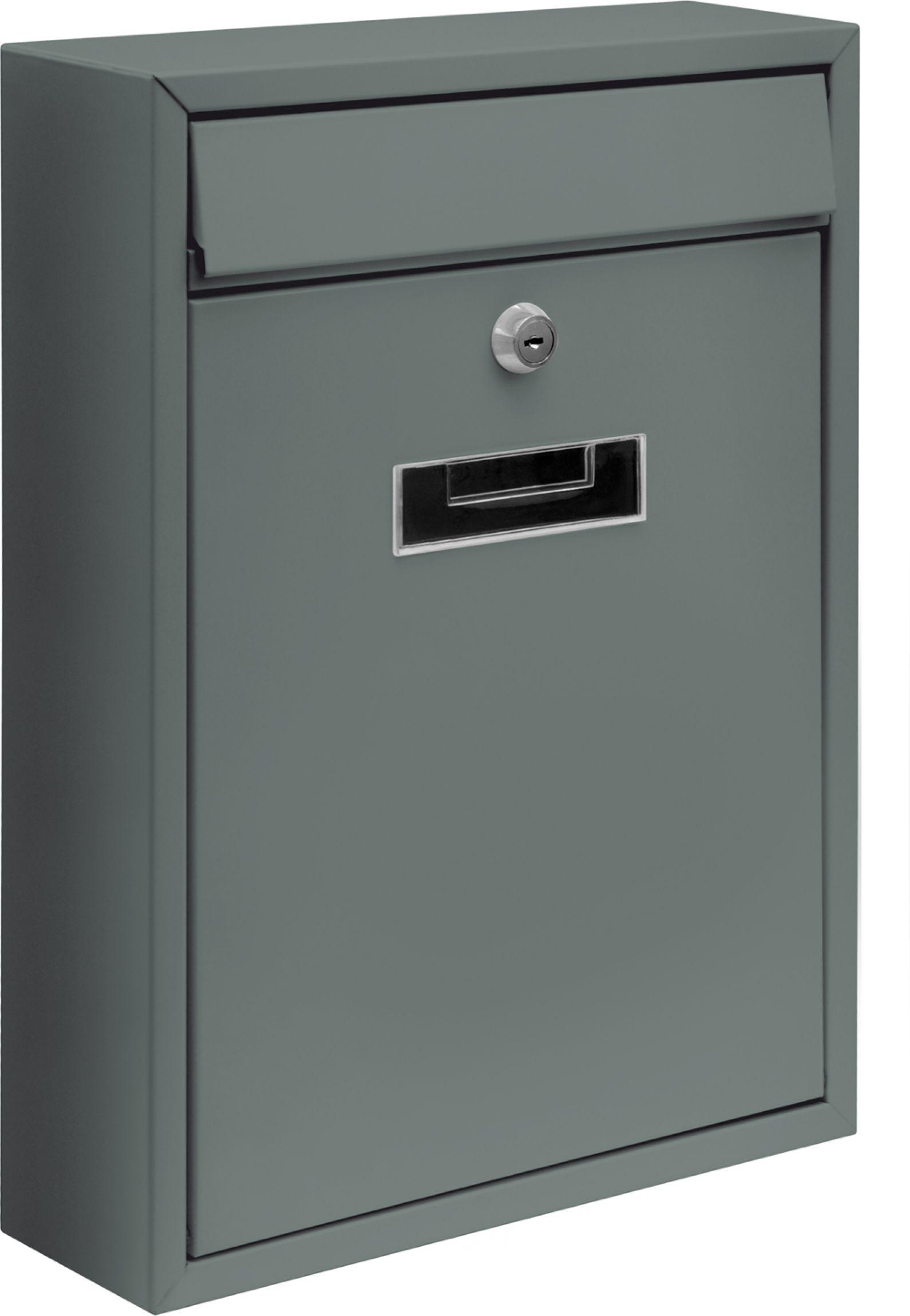 Poštovní schránka 360x260x80mm šedá