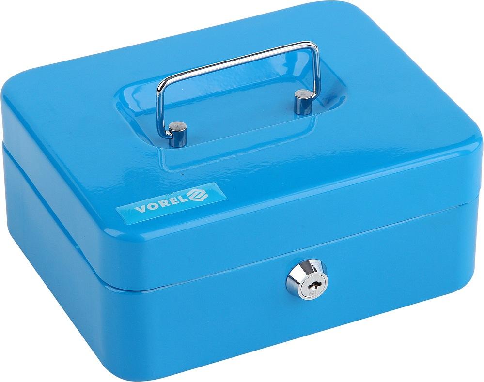 Pokladna příruční 200x160x90mm, modrá, 2klíče