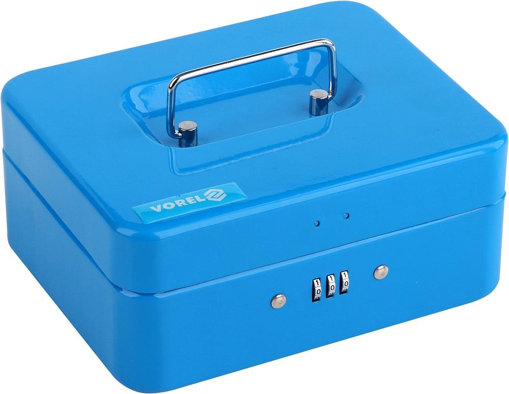 Pokladna příruční 200x160x90mm modrá, číselný kód