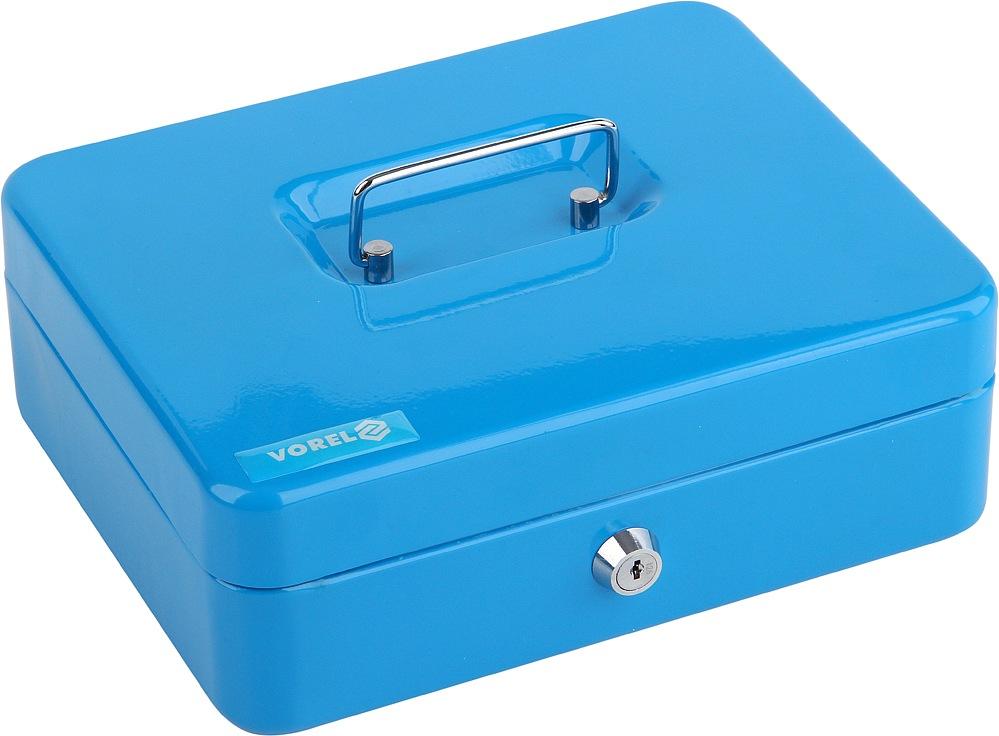 Pokladna příruční 250x200x90mm modrá, 2klíče