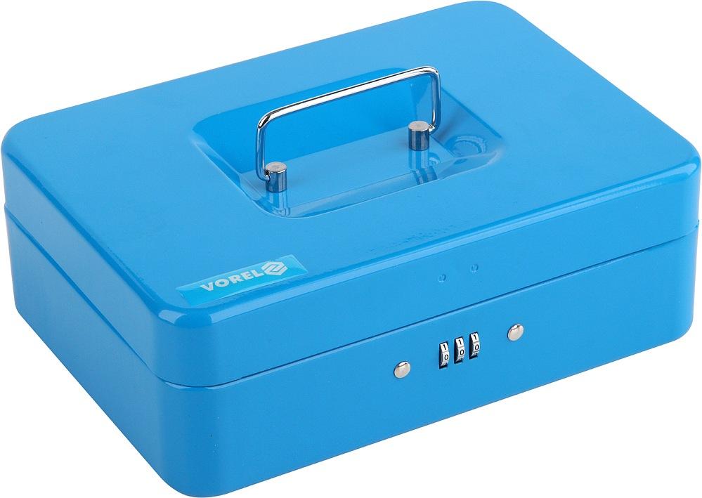 Pokladna příruční 250x180x90mm modrá, číselný kód