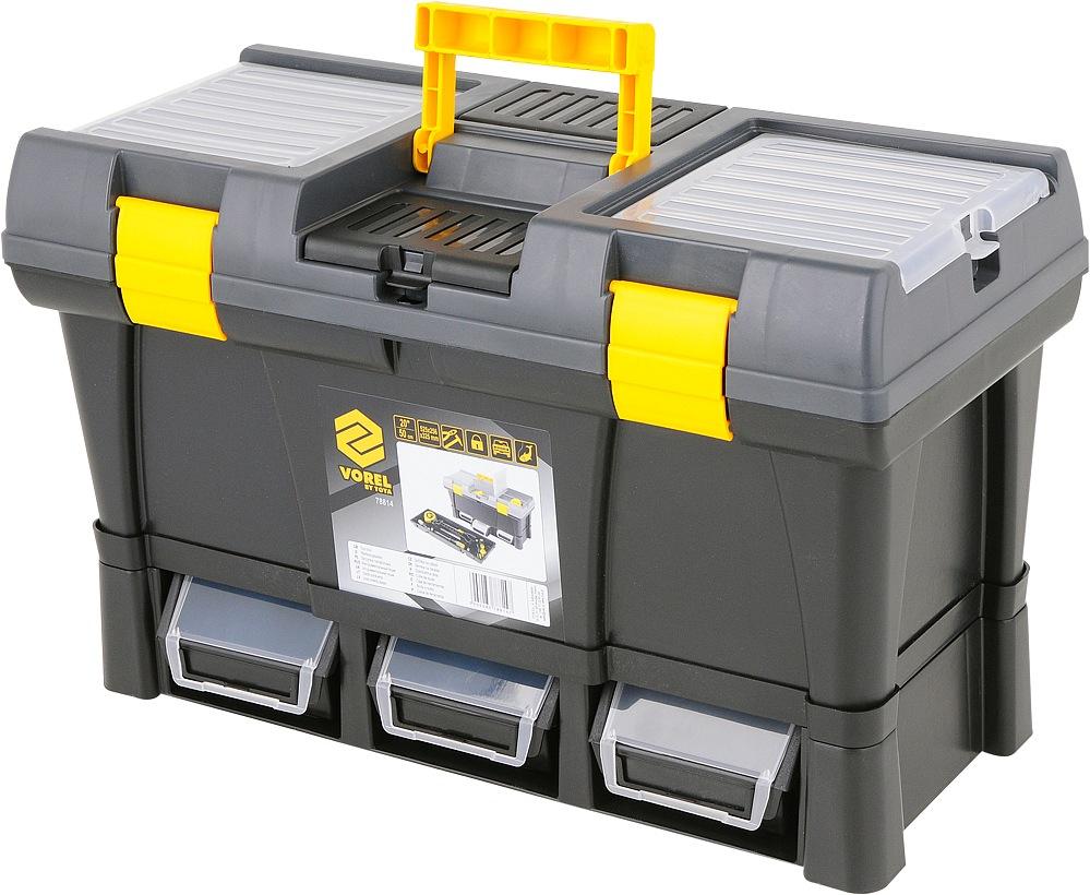 """Box na nářadí plastový 20"""" + 3x zásuvka"""