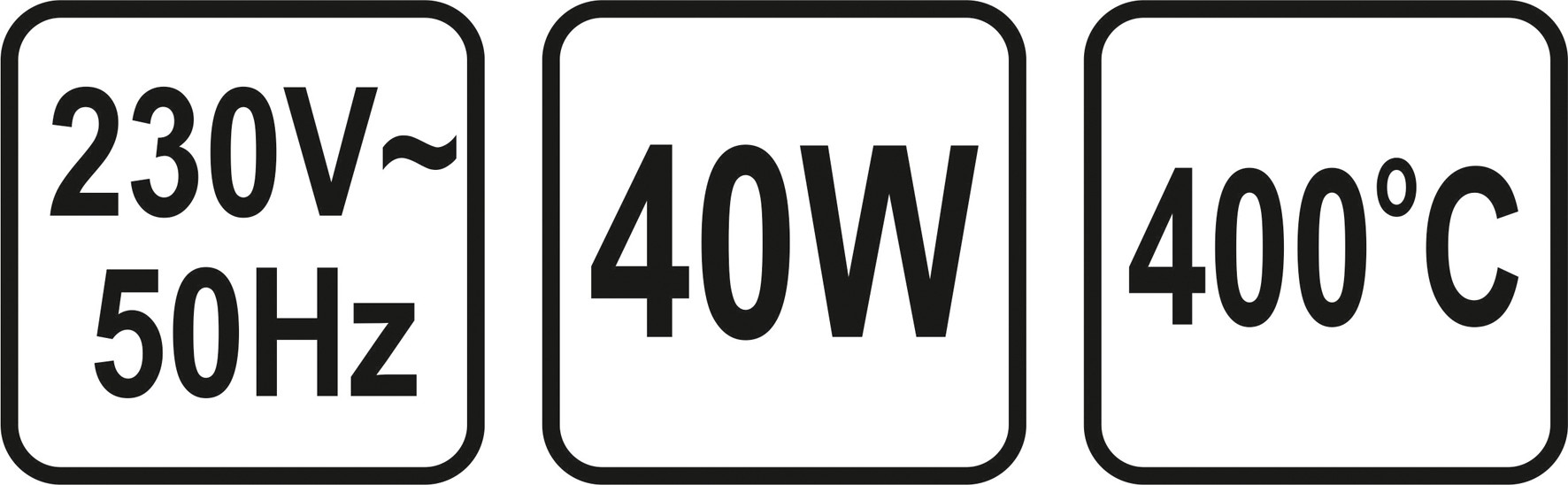 Pájka odporová 40 W 5 mm POWER UP