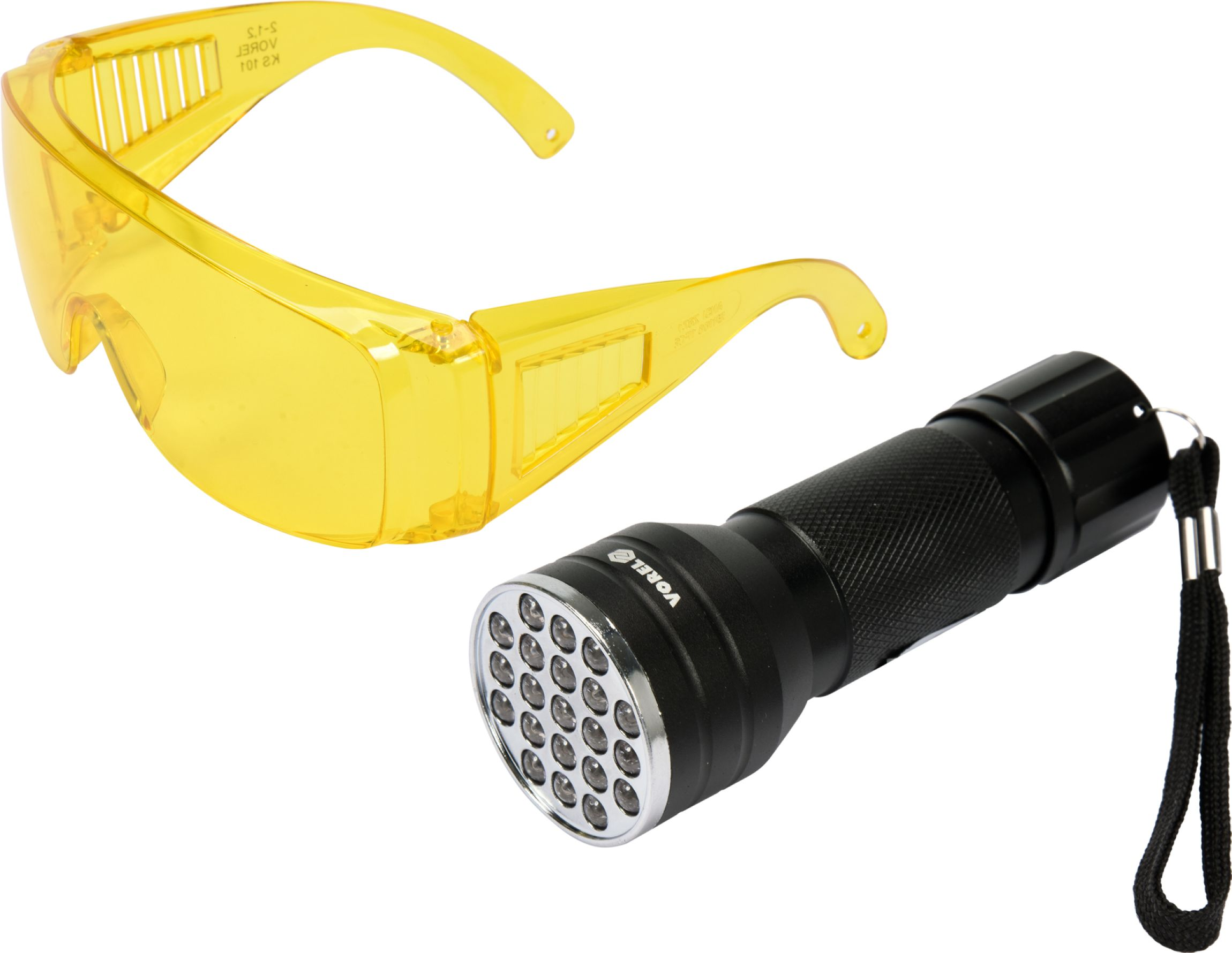 Sada detekční UV svítilny s ochrannými brýlemi