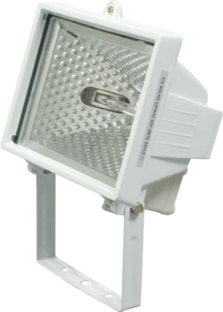 Lampa halogenová 500 W bílá