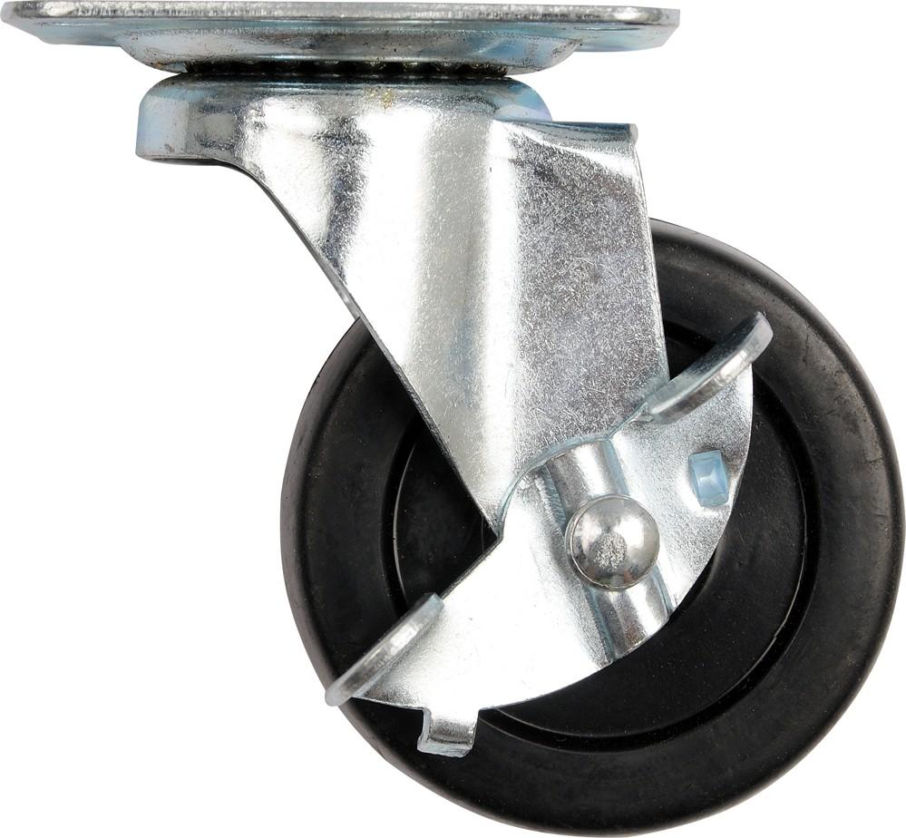 Kolečko otočné, polypropylenové s brzdou 20kg 40/17/54mm