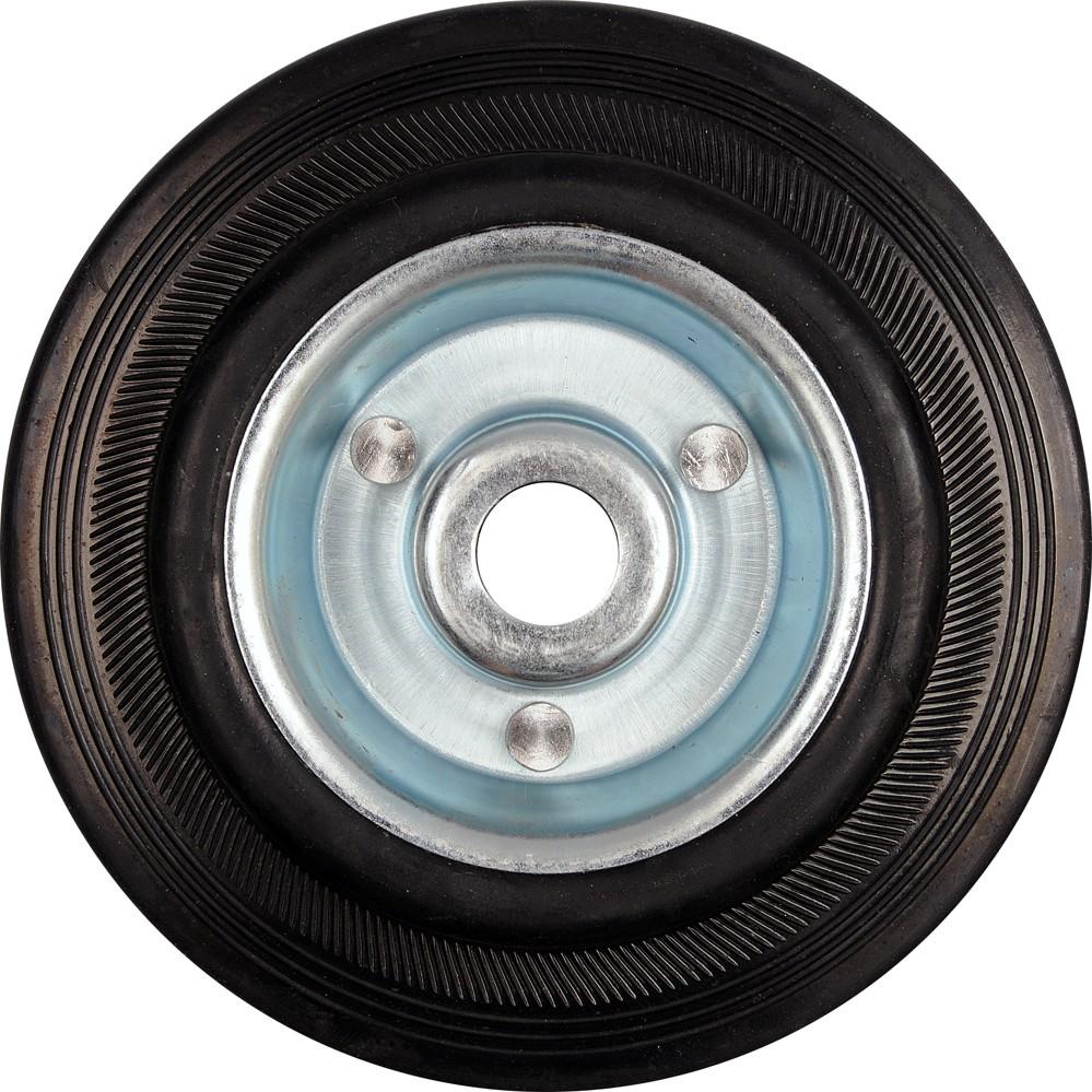 Kolečko gumové černé 150kg  200/44mm prům.20/25x55mm