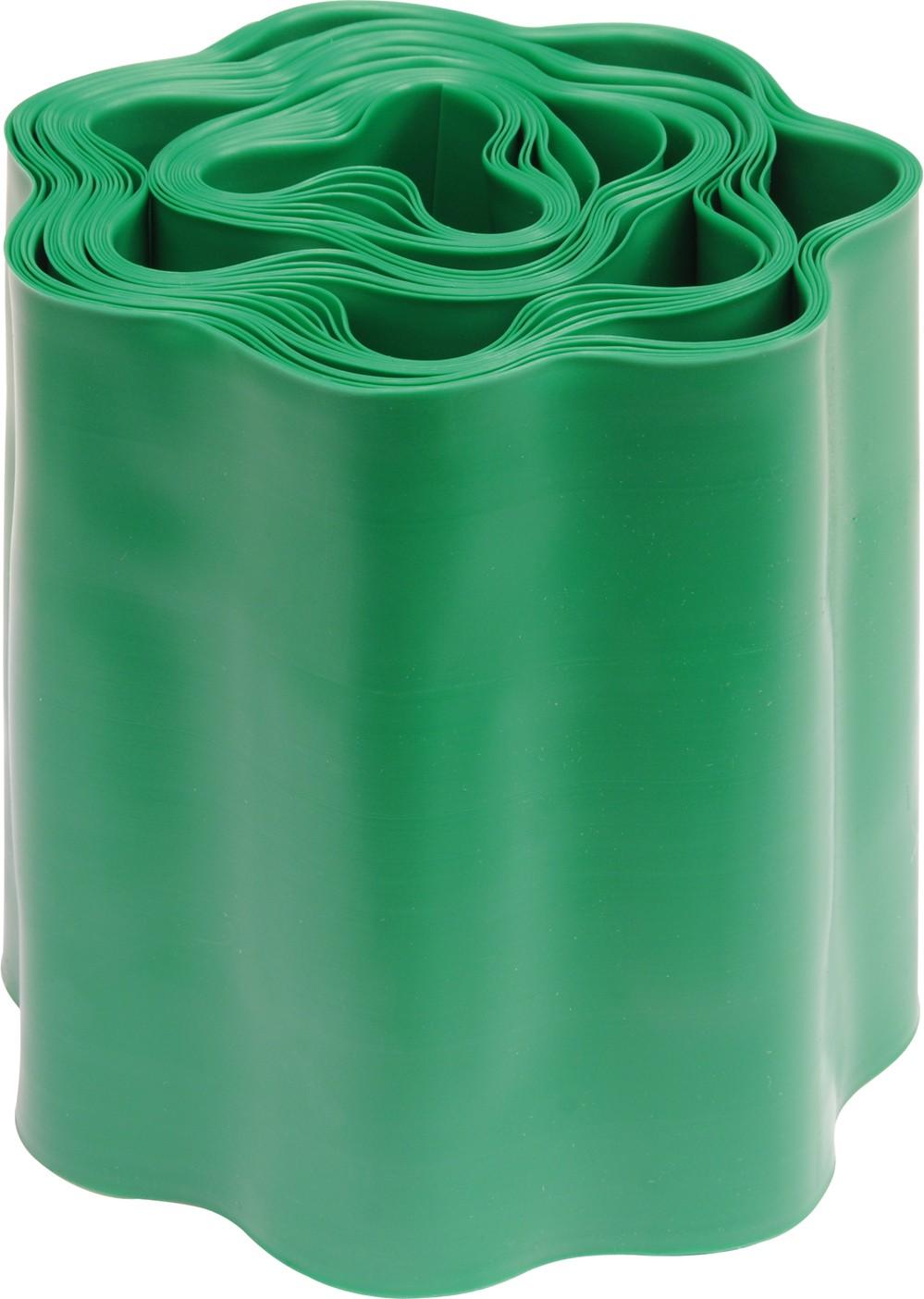 Plastový okraj trávníku v:150mm, d:9m zelený