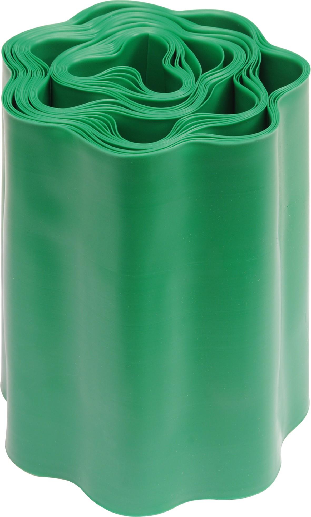 Plastový okraj trávníku v:200mm, d:9m zelený