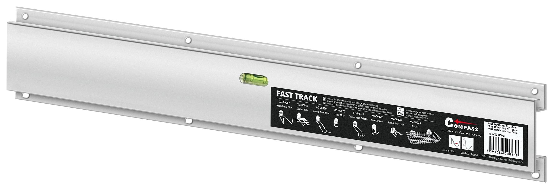 Závěsný systém FAST TRACK lišta ALU 60cm s vodováhou