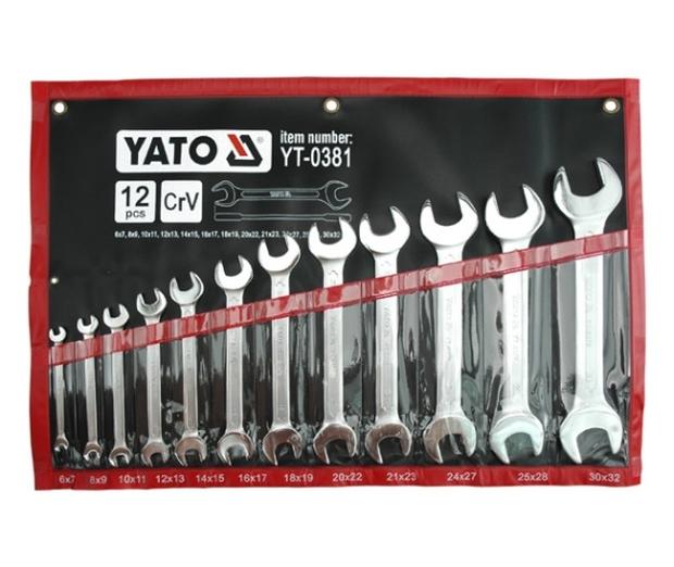 Sada klíčů plochých 12 ks 6 - 32 mm