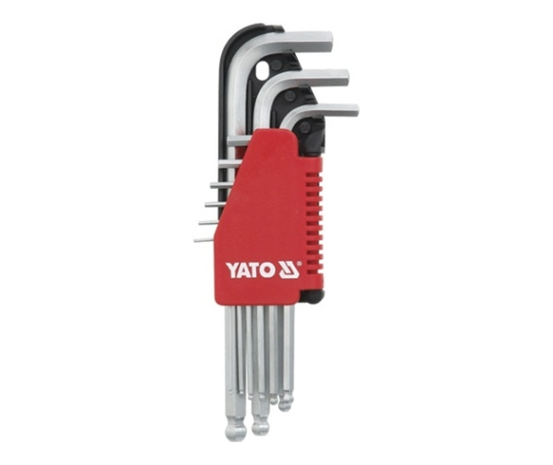 Sada klíčů imbus s kuličkou 9 ks delší