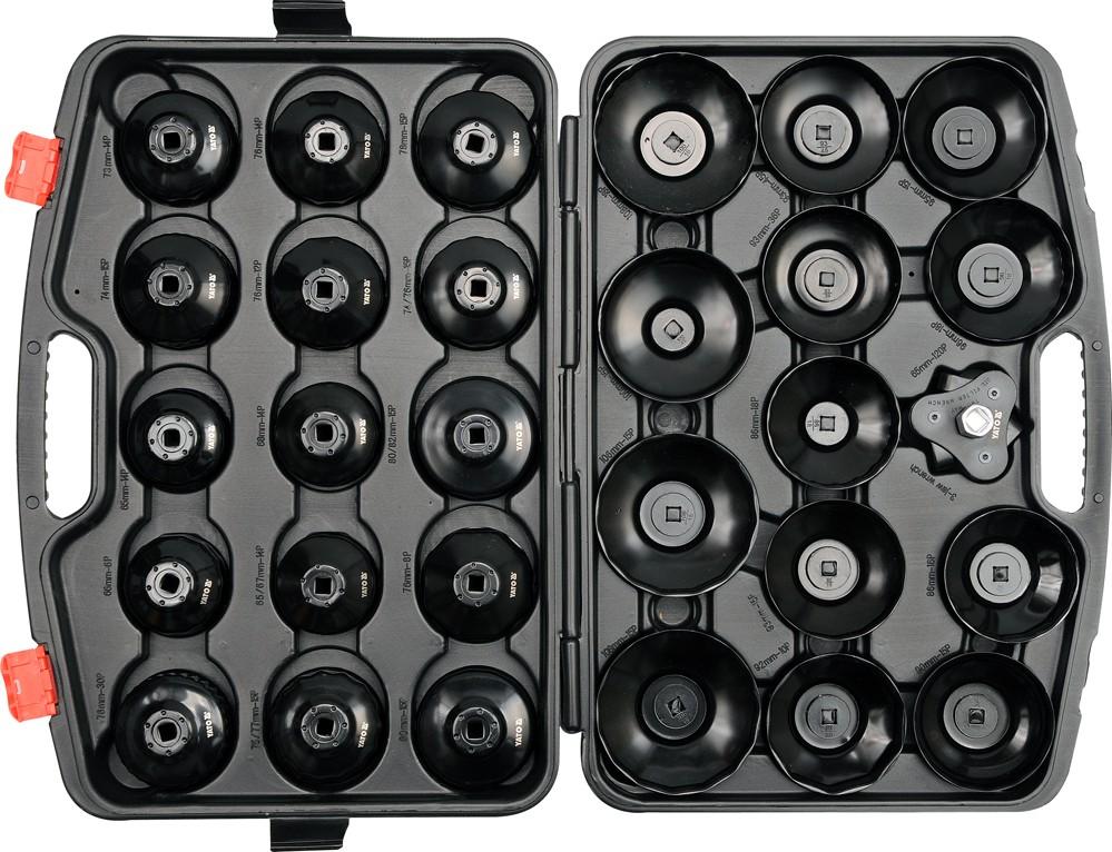 Sada klíčů miskových na olejové filtry 30 ks