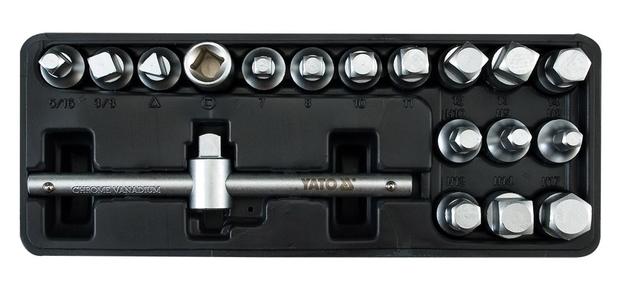 Sada klíčů nastrčných na zátky olejových van motorů 18 ks