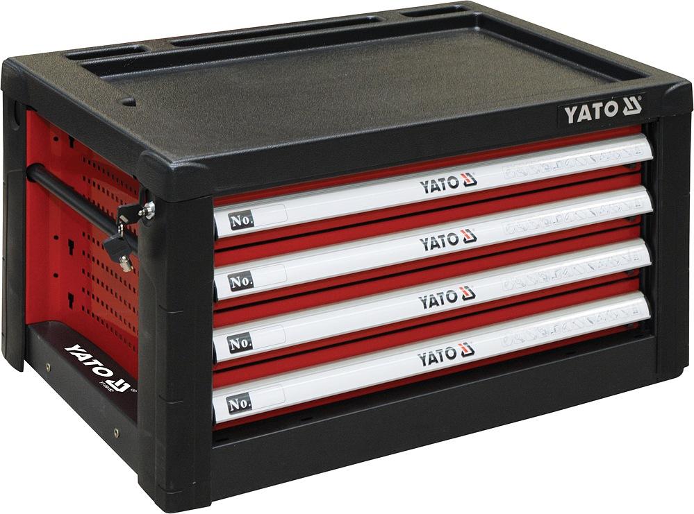 YATO YT-09152 Skříňka dílenská 4 zásuvky 690x465x400mm červená