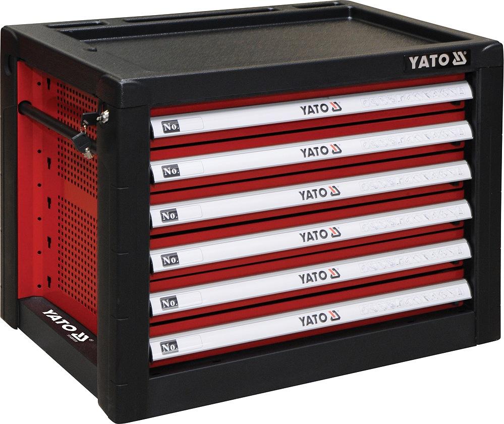 YATO YT-09155 Skříňka dílenská 6 zásuvky 690x465x535mm červená