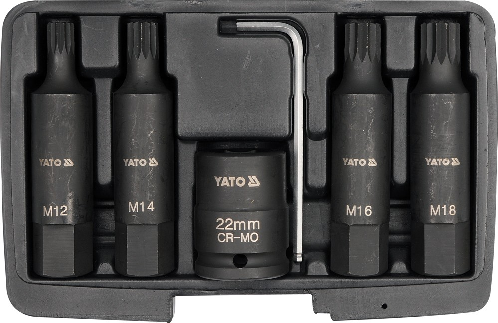 "Sada nástavců 3/4"" rázové 6 ks M12-M18 vícezubé CrMo"