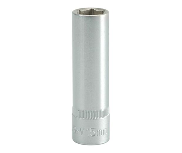 """Nástavec 1/2"""" 15 mm šetihranný hluboký"""