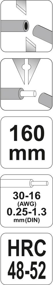 Kleště odizolovací průměr 0,25-1,3 mm