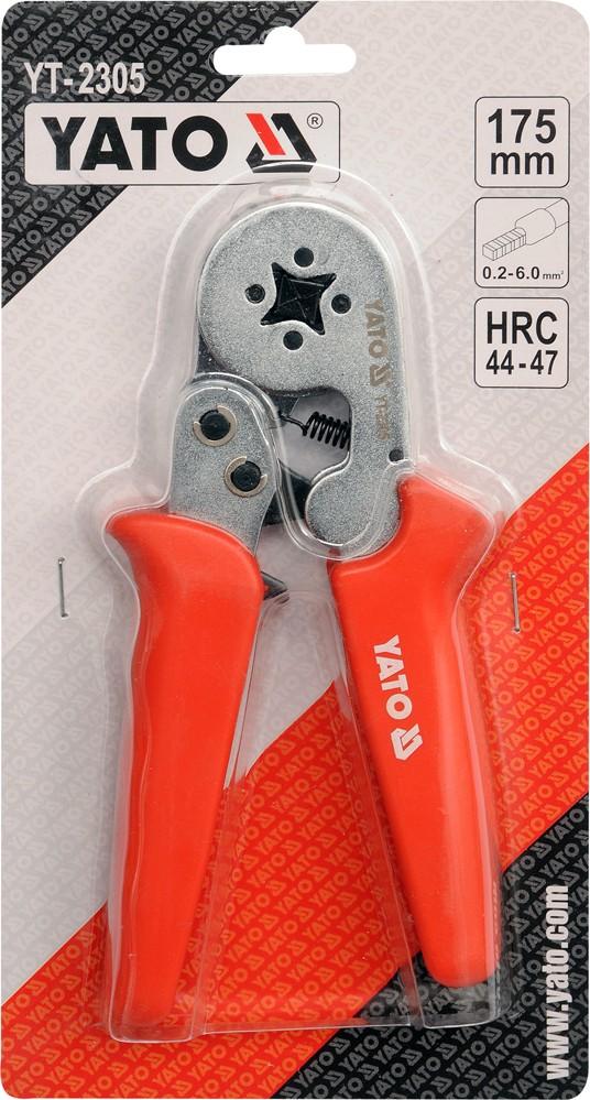 Kleště konektorové 175mm, HRC 44-47, 0,2-6,00mm2