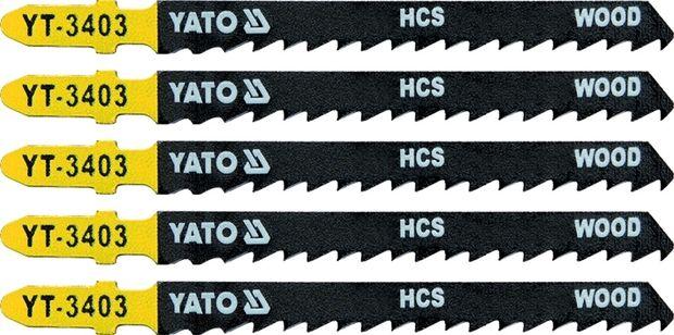 List pilový do přímočaré pily na dřevo typ T 6TPI sada 5 ks