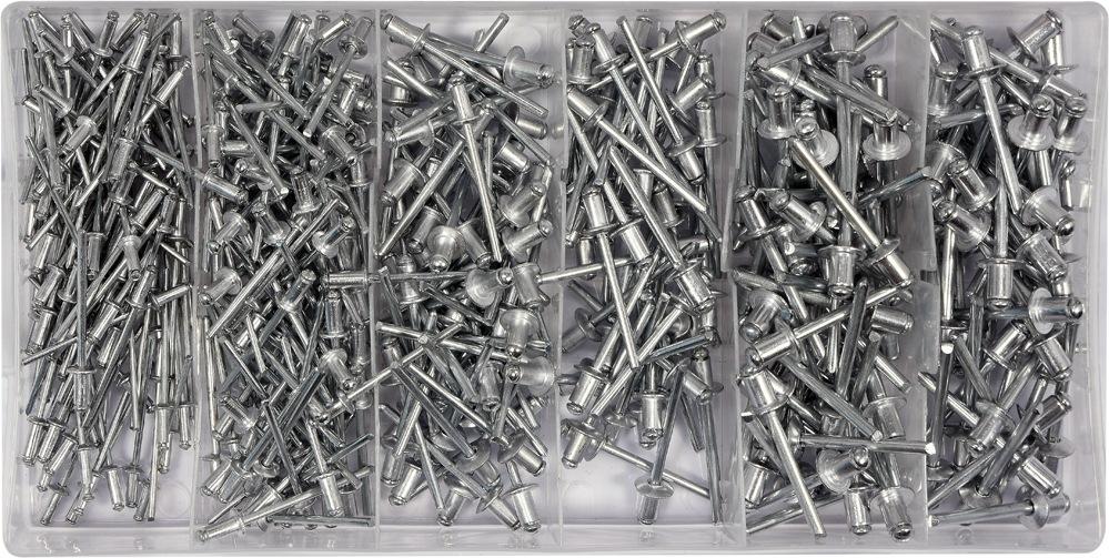 Nýt hliníkový sada 400ks (2,4, 3,2, 4,0, 4,8mm)
