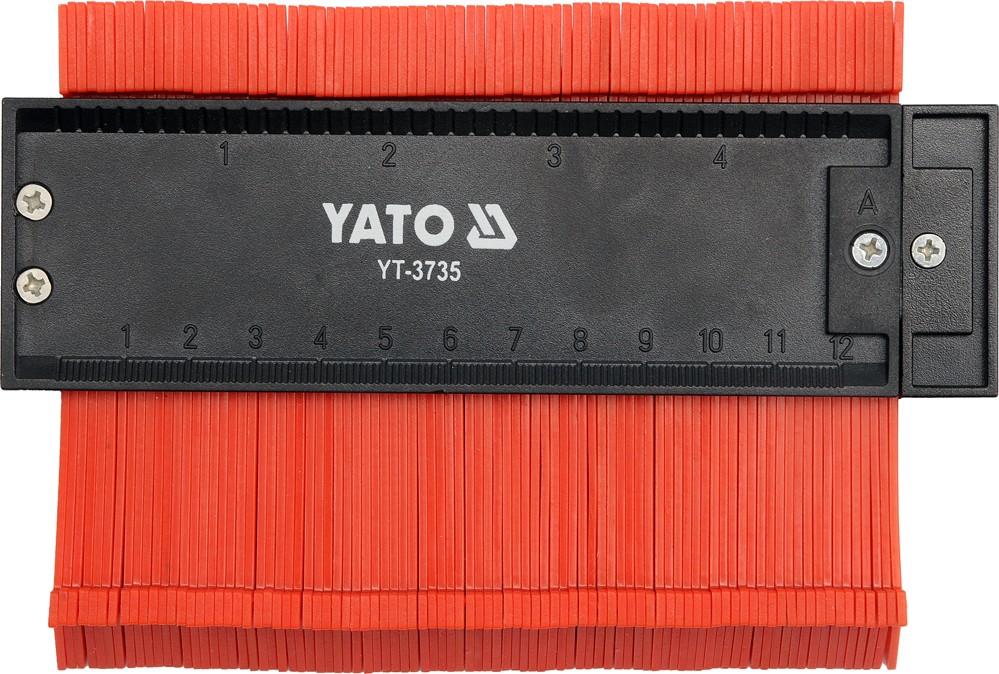 Šablona na profily 125 mm magnetická