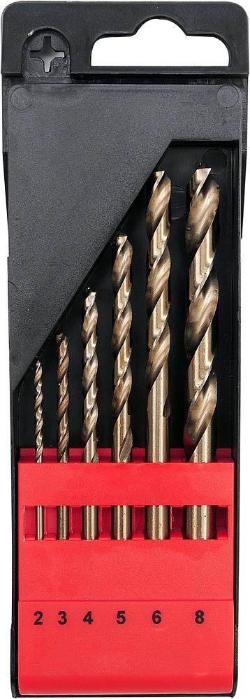 Sada vrtáků na kov 6ks HSS-COBALT 2-8mm