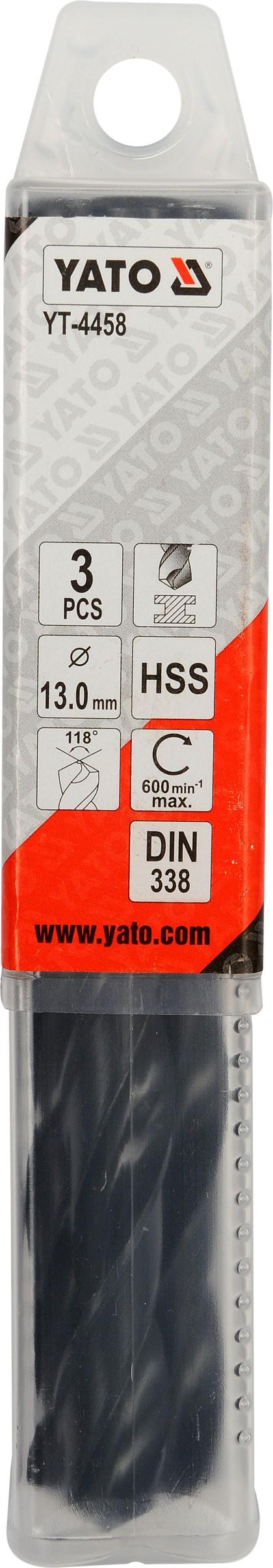 Vrták na kov 13,0 mm HSS 3 ks