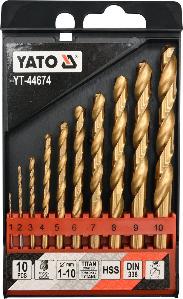 Sada vrtáků do železa HSS-TiN 10ks 1-10mm