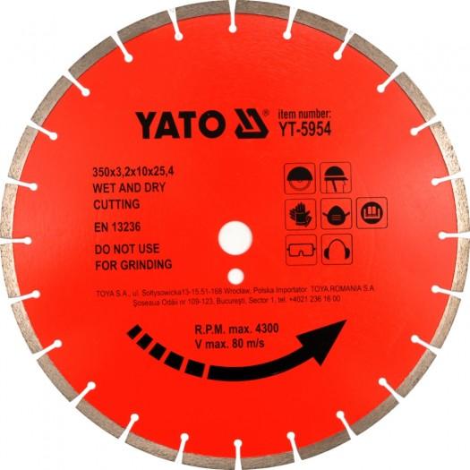 Kotouč diamantový 300 x 25,4 x 3 mm červený