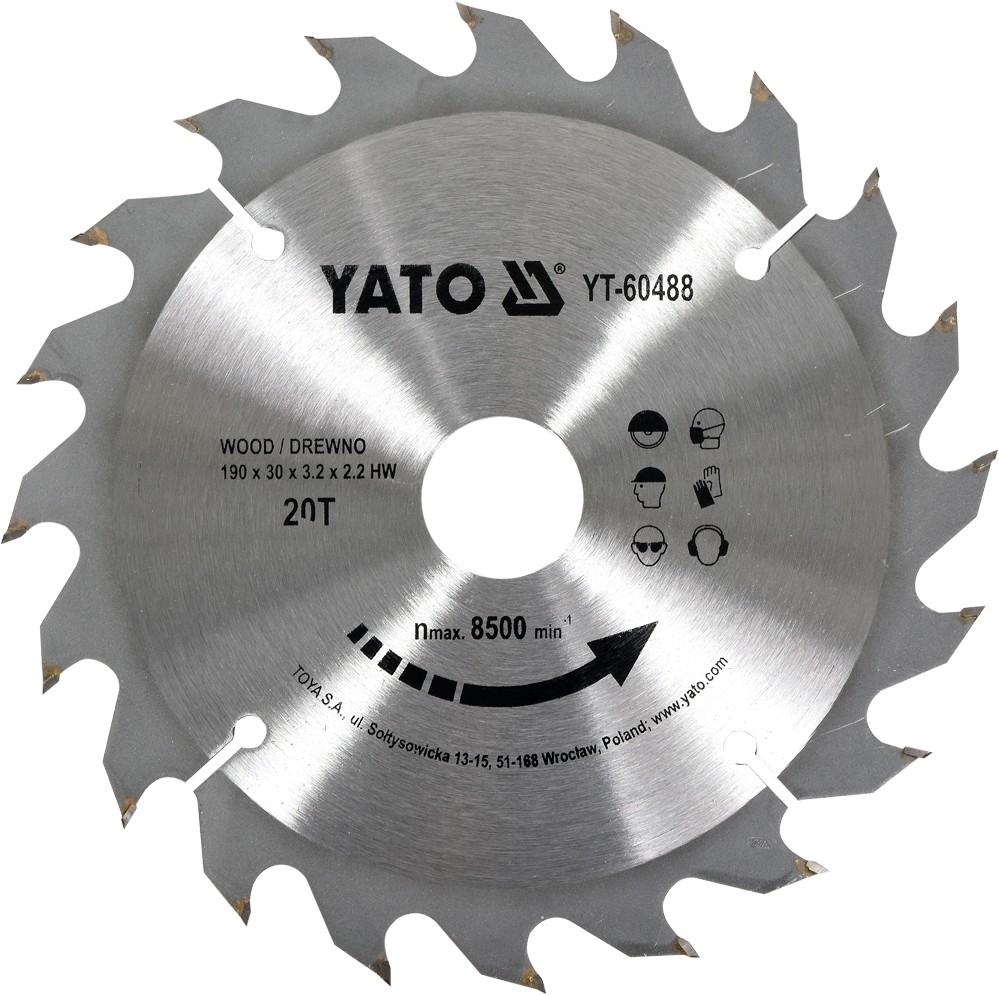 Kotouč na dřevo 190 x 30 mm 20z