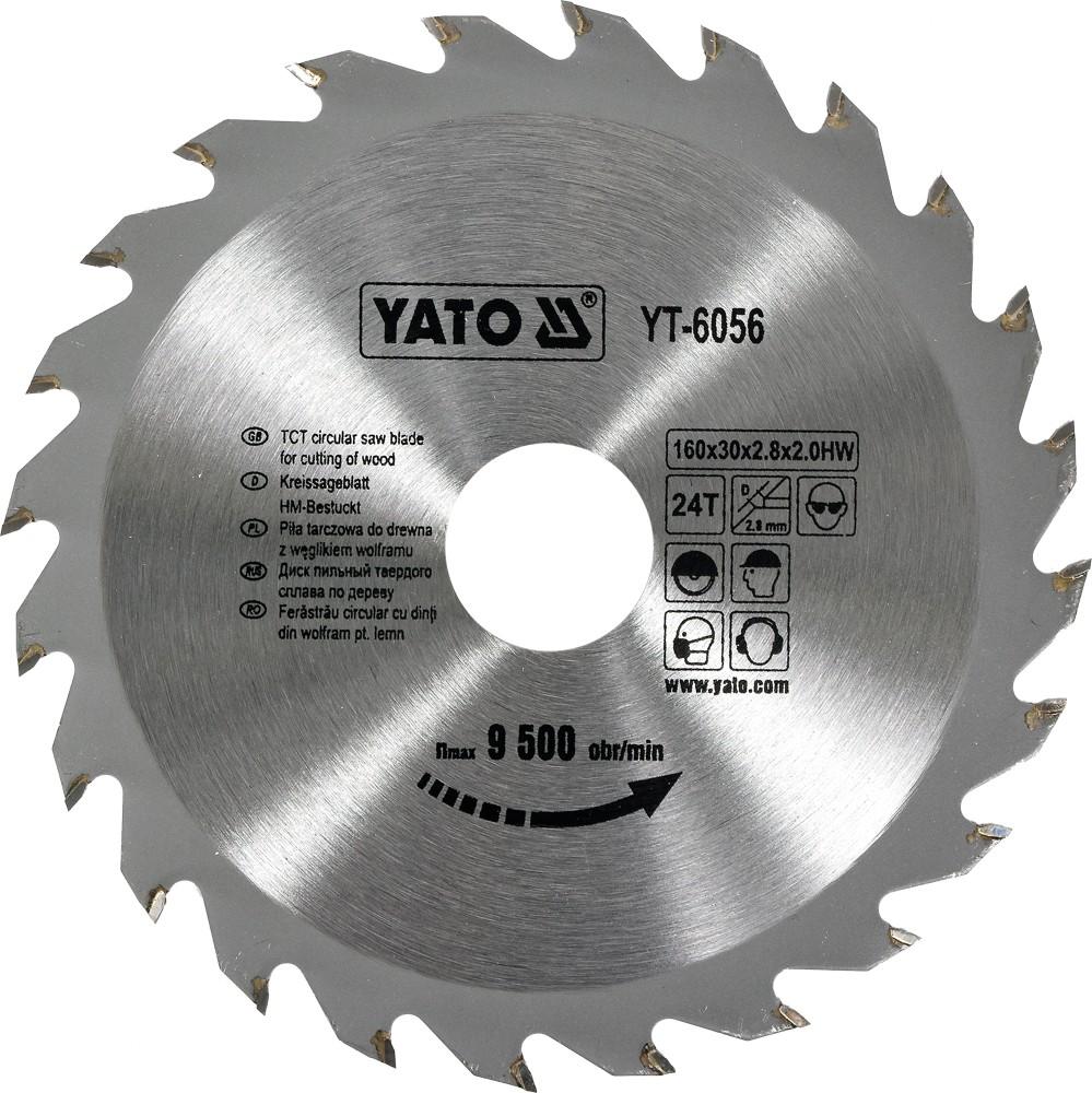 Kotouč na dřevo 160 x 30 mm 24z