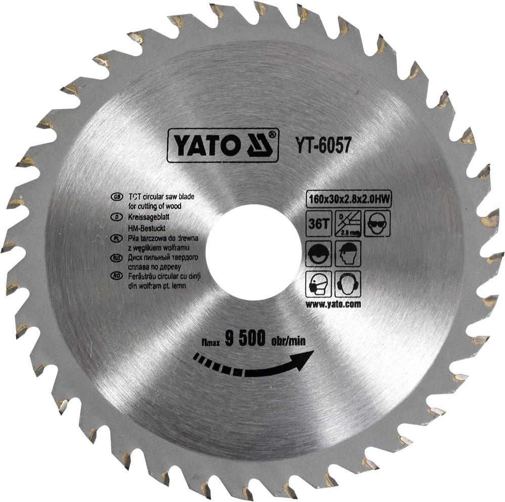 Kotouč na dřevo 160 x 30 mm 36z