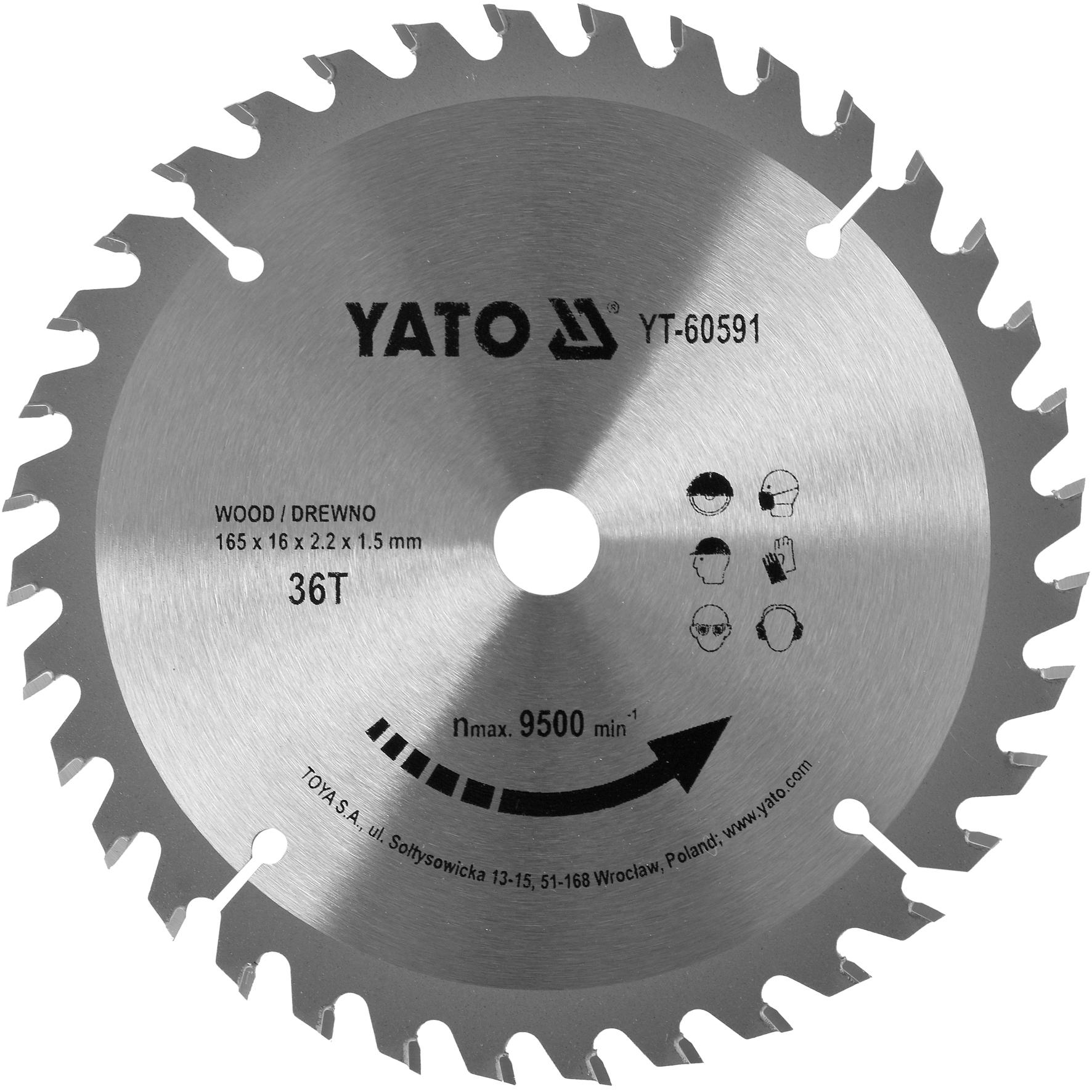 Kotouč na dřevo TCT 165 x 16 mm 36z (pro YT-82810)