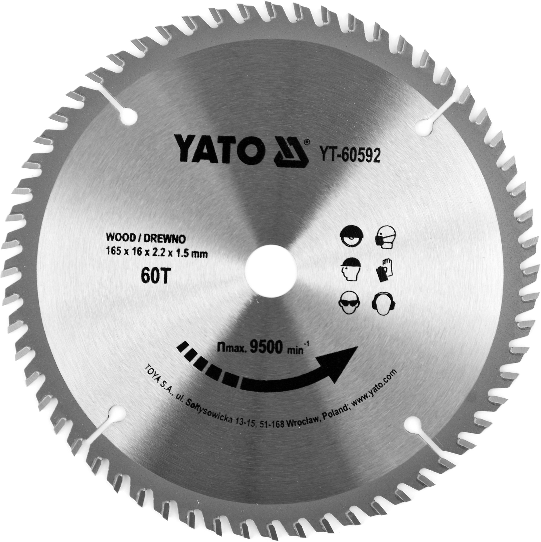 Kotouč na dřevo TCT 165 x 16 mm 60z (pro YT-82810)