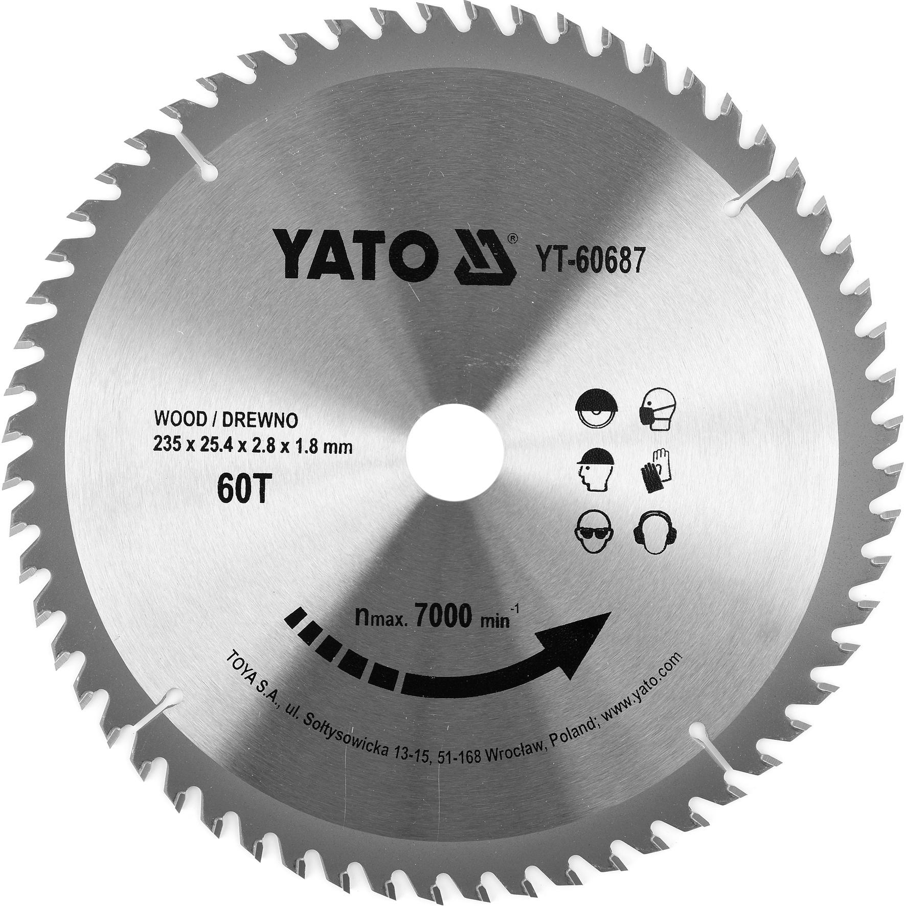 Kotouč na dřevo TCT 235 x 25,4 mm 60z (pro YT-82153)