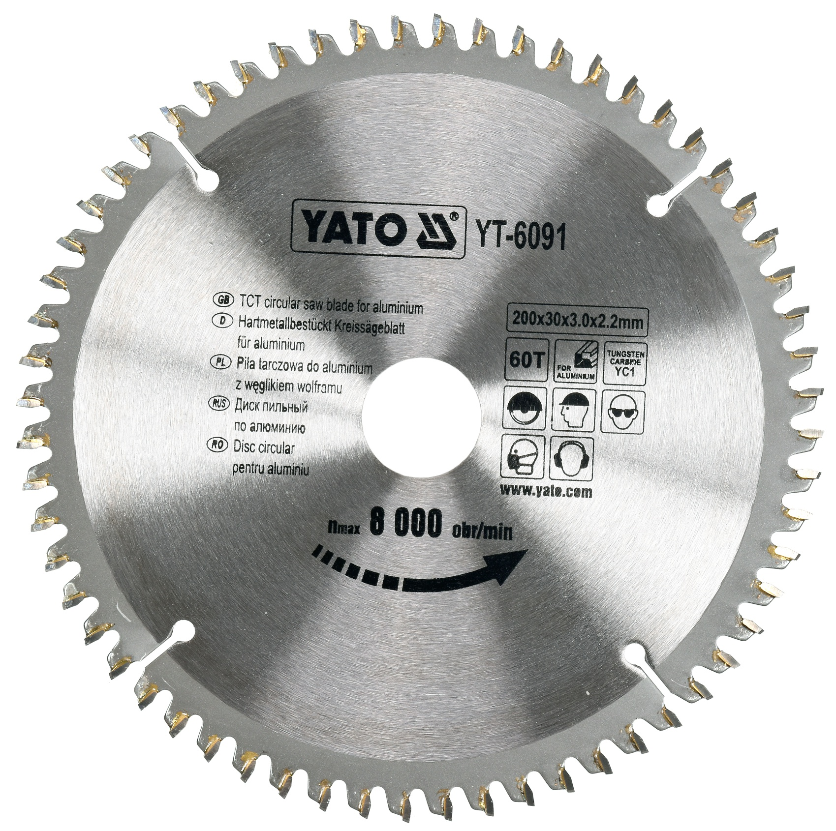 Kotouč na hliník 200 x 30 mm 60z