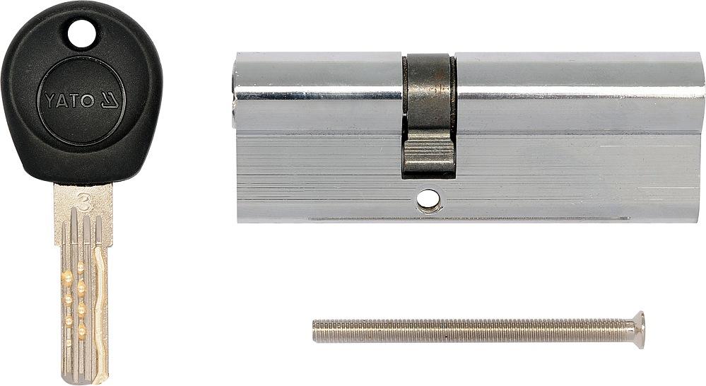 Vložka zámku 87 x 36 x 51 mm mosaz/chrom 8 klíčů